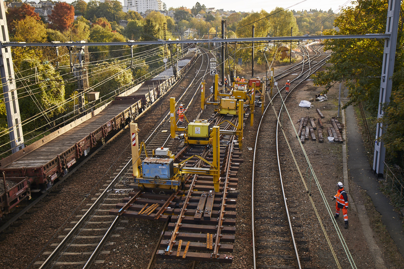 Track Renewal Worksite in France