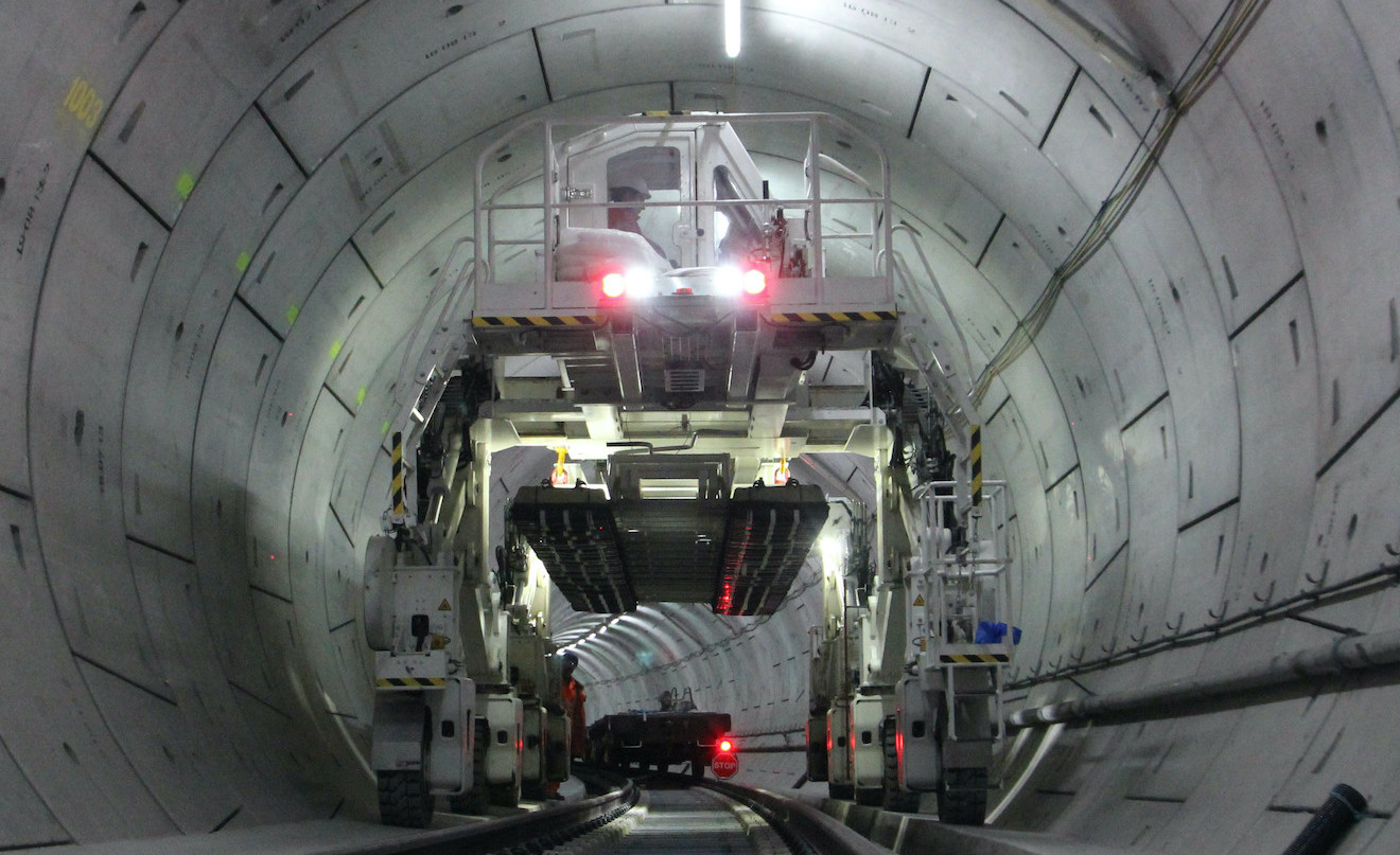 Track Construction in a tunnel - UK