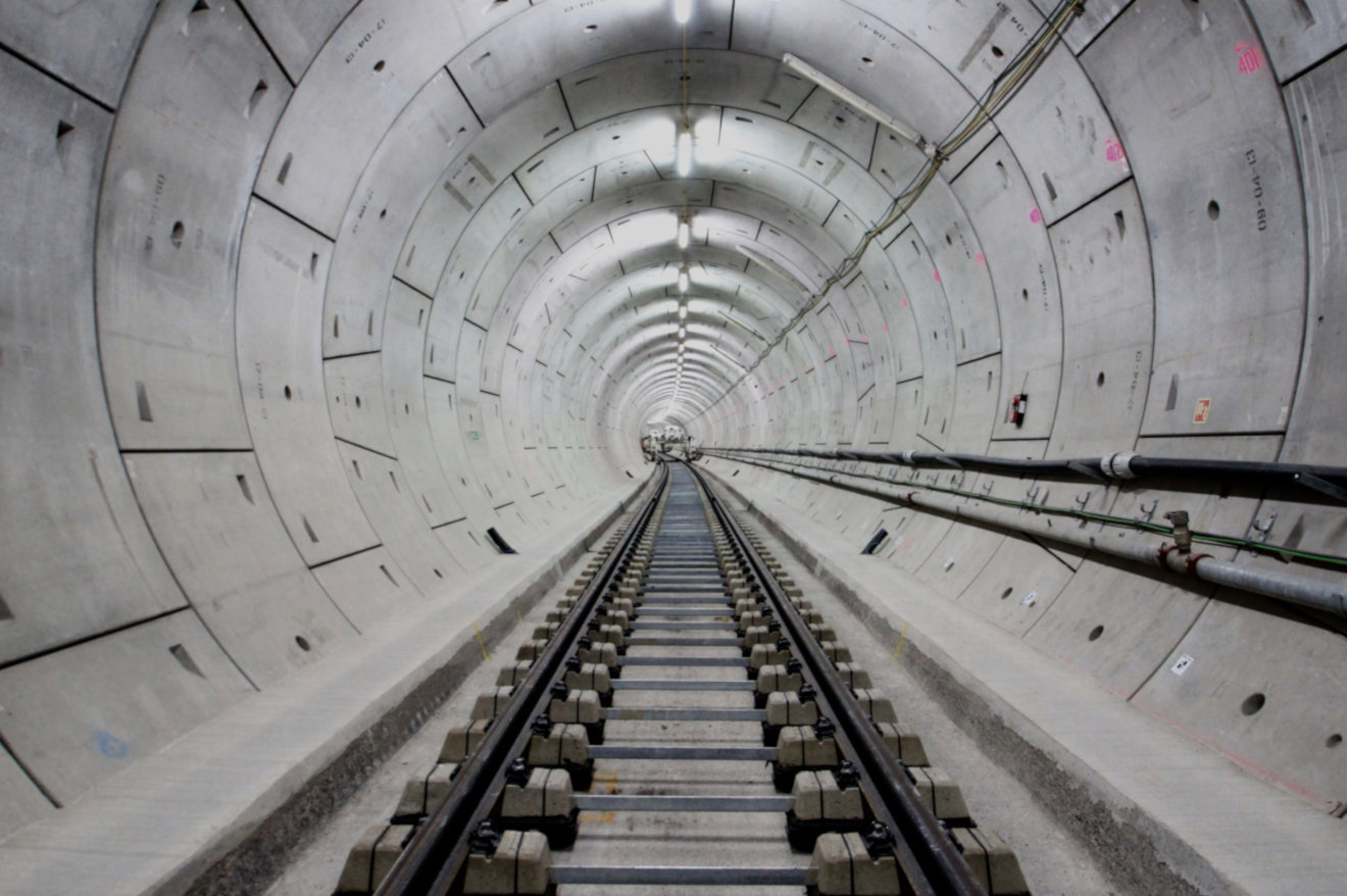 Crossrail Tunnel - Track Construction on urban line