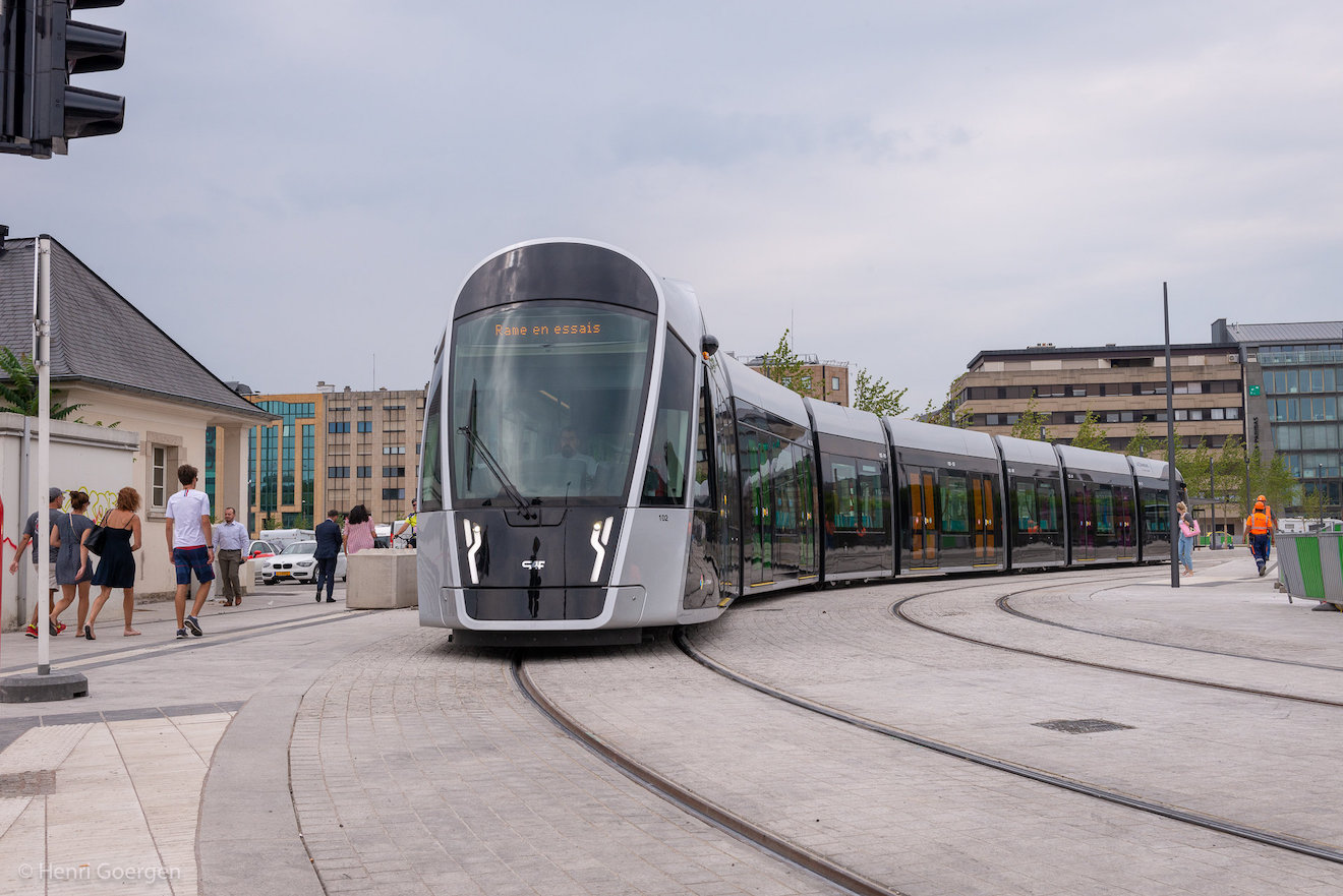 Lightrail - Tramway in Luxembourg
