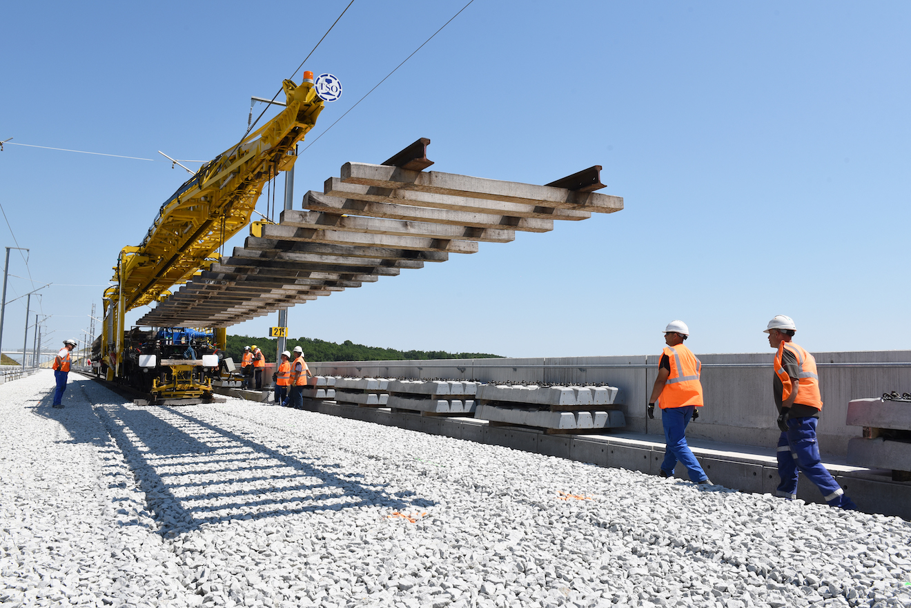 High Speed Line - Track Construction - SEA Worksite