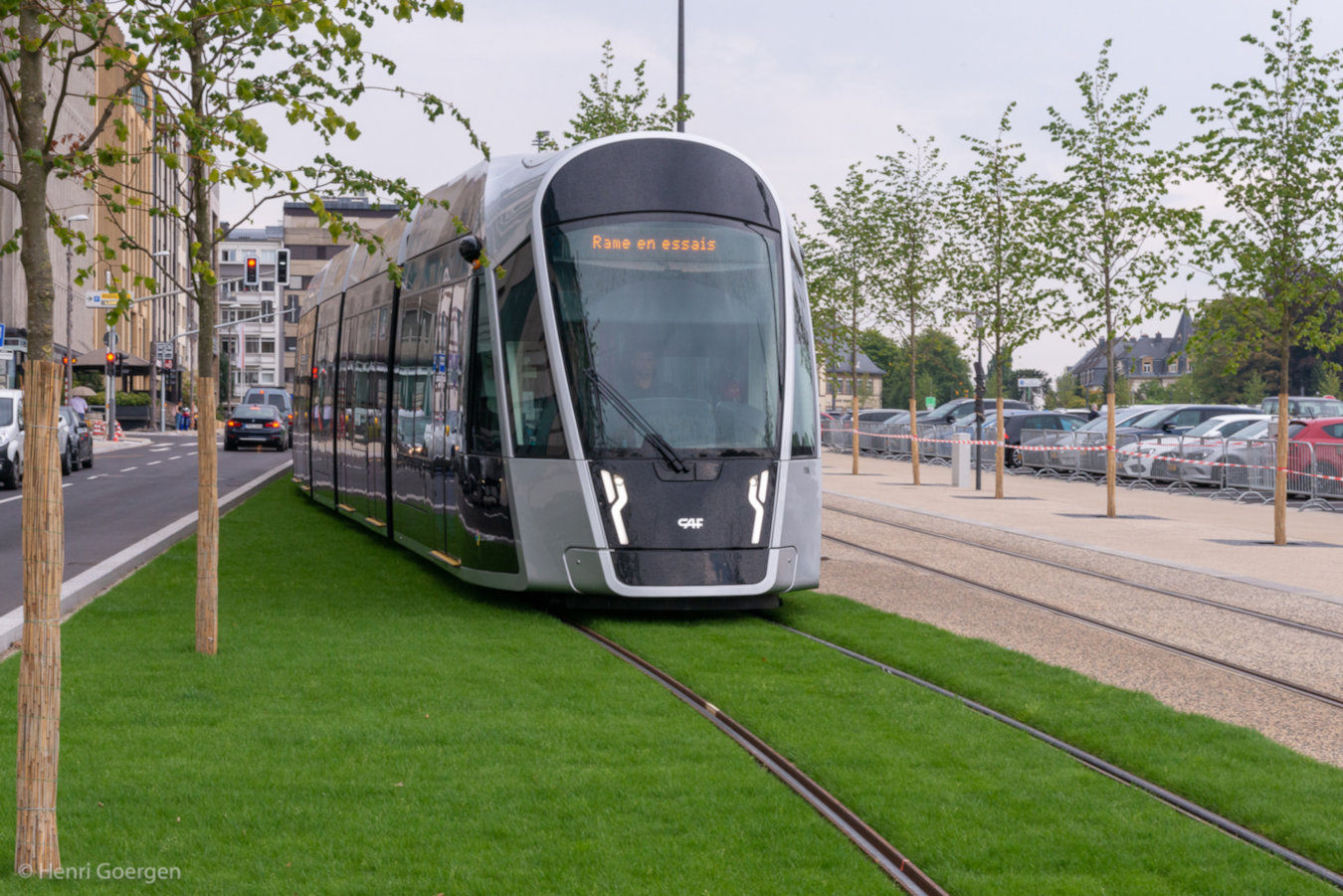 Lightrail Track Construction - Luxembourg