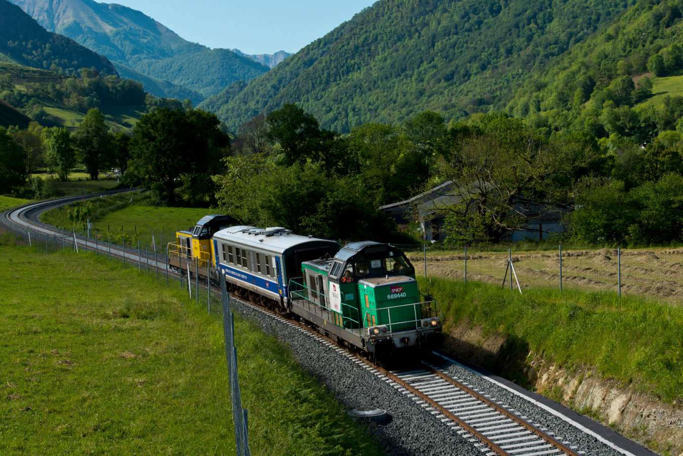 Restoration of rail traffic between Oloron and Bedous